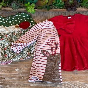 Toddler Christmas dress bundle (3T)